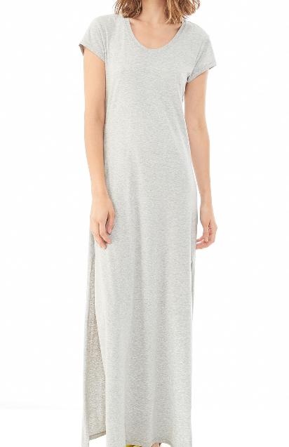 Alternative Apparel Modal Crossback Maxi Dress