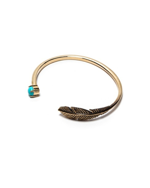 Pamela Love Pluma Cuff in Brass and Turquoise