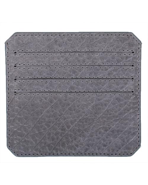 Parabellum 4-Card Wallet in Grey Bison