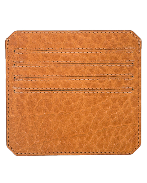 Parabellum 4-Card Wallet in Pumpkin Bison Leather