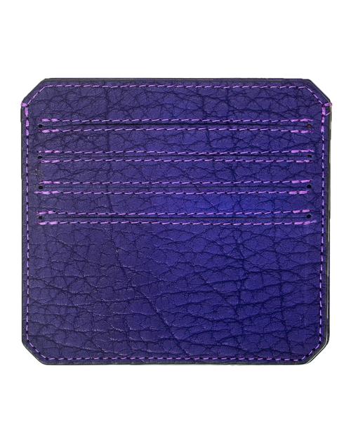 Parabellum 4-Card Wallet in Violet Bison Leather