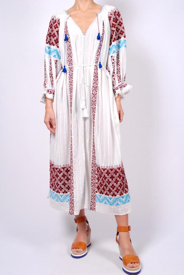 Ulla Johnson Siran Cotton Gauze Embroidered Sleeveless Dress - - 505018383