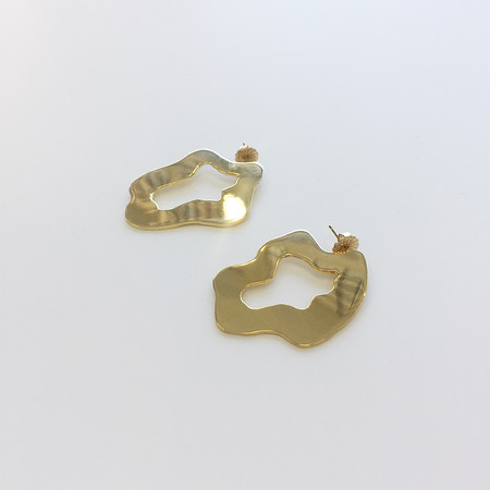 Lane Walkup Swimming Pool Earrings - Gold