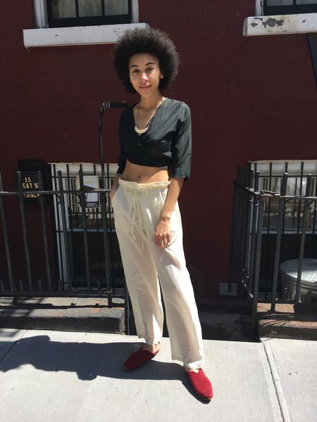 Awaveawake Loose Fit Silk/Cotton Pant