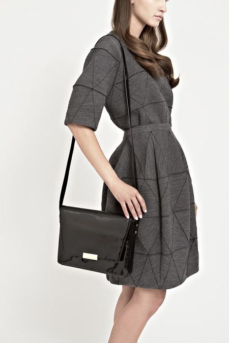 Marie Turnor Club Bag - Black Patent Leather