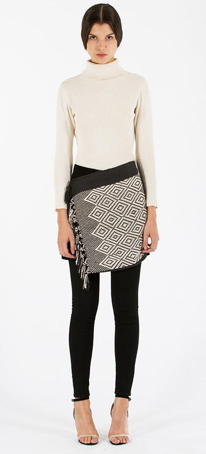 Textile Wrap Skirt