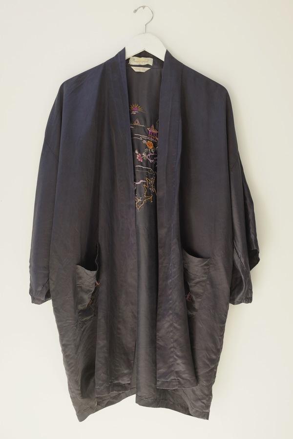 909d6356c72d68 Hey Jude Hand Embroidered Silk Robe