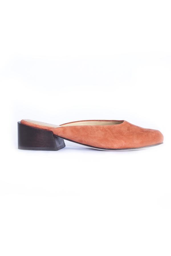 Mari Giudicelli Leblon Mule - Orange Suede