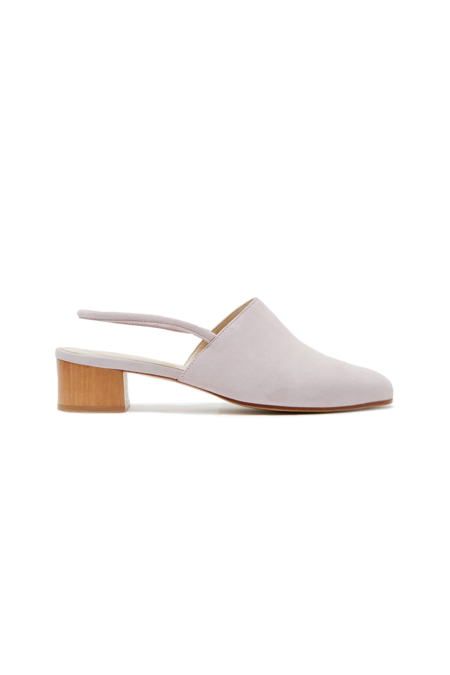 Anne Thomas Williamsburg Slingback - Silver Peony