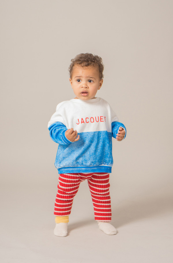 1419df674 Kid's Bobo Choses STRIPED KNIT LEGGINGS - RED on Garmentory