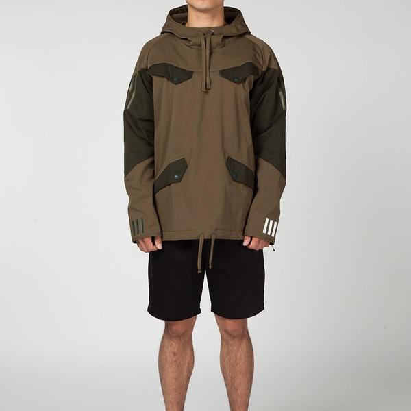 d0530af0efa3 ADIDAS ORIGINALS BY WHITE MOUNTAINEERING PULLOVER JACKET   TRACE OLIVE