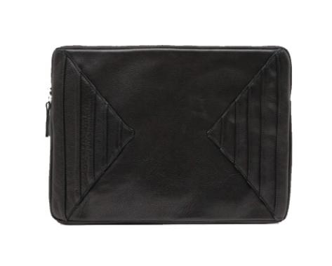 Collina Strada Tribune Case Black Leather