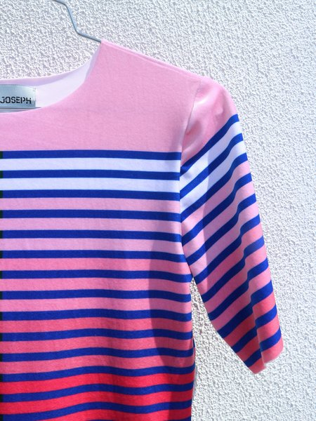 Kitty Joseph Velet Striped Tee - Pink/Red Stripe