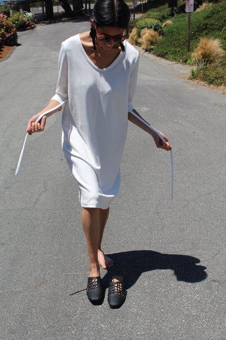 Beklina French Terry Dress White