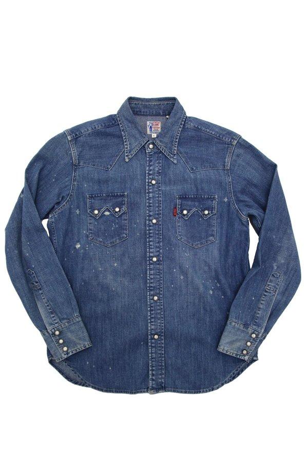 98eb935585f Levi s Vintage Clothing 1955 Sawtooth Denim Shirt - Silverton ...