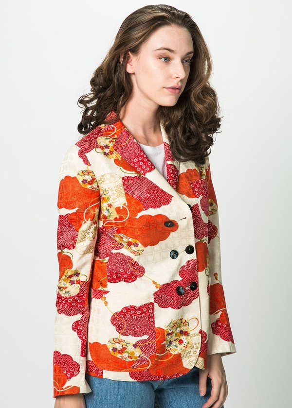 buy popular 0f8ca 7a8c5 Ibrigu Six Button Kimono Jacket