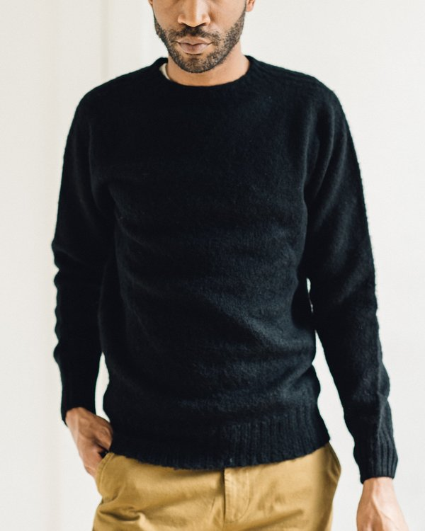 77921410d32155 YMC Suedehead Brushed Knit Supersoft Wool Sweater