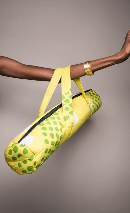 Fashion Rising Collection Cotton Yoga Bag - Yellow Teany