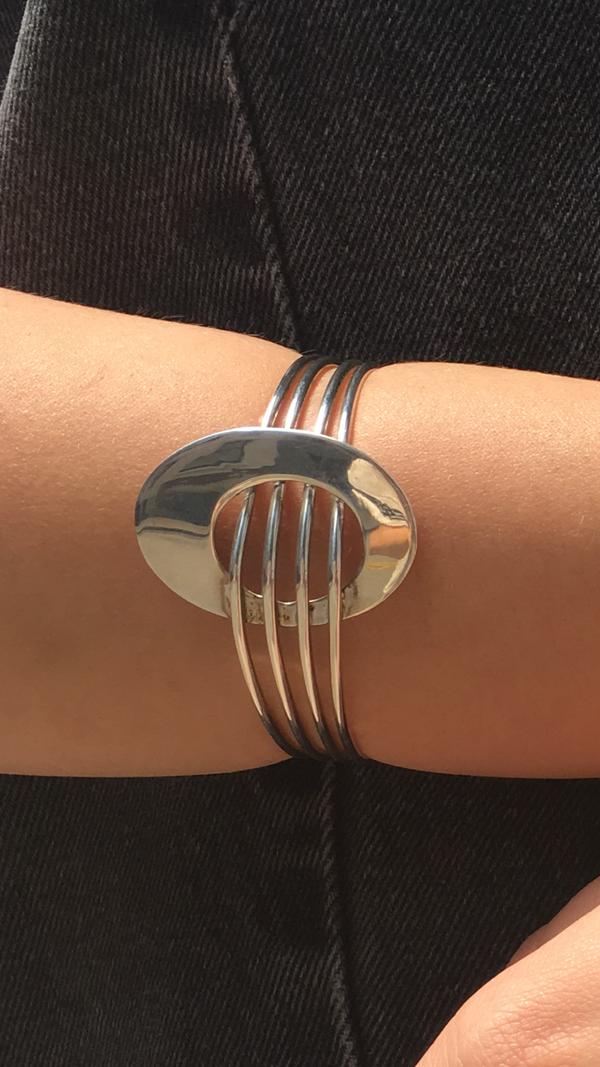 KC Silver Oval Bracelet