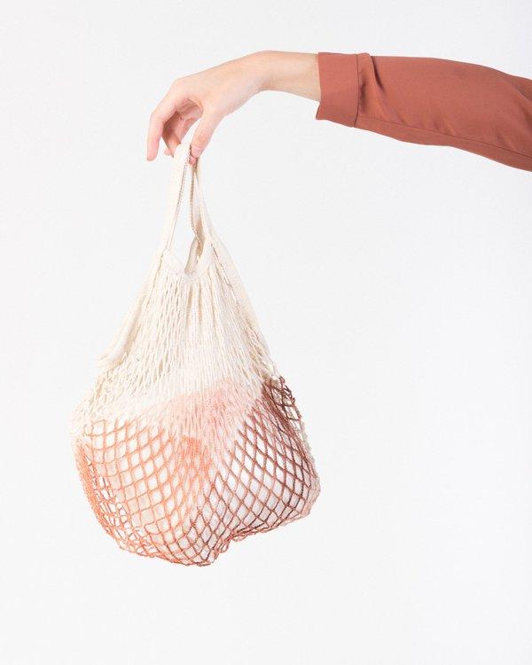 F&F Market net tote bag in clay