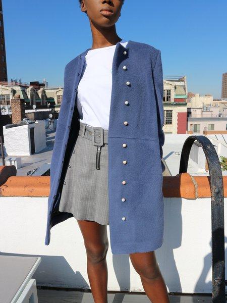 Anna K Pearl Button Coat - Navy