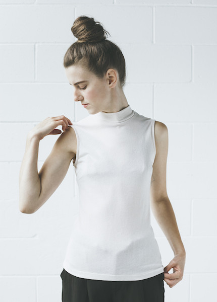 Objects Without Meaning Mock Neck Tee | Nude