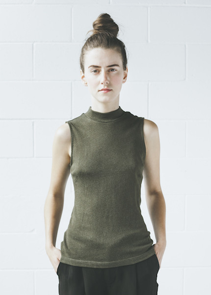 Objects Without Meaning Mock Neck Tee | Olive
