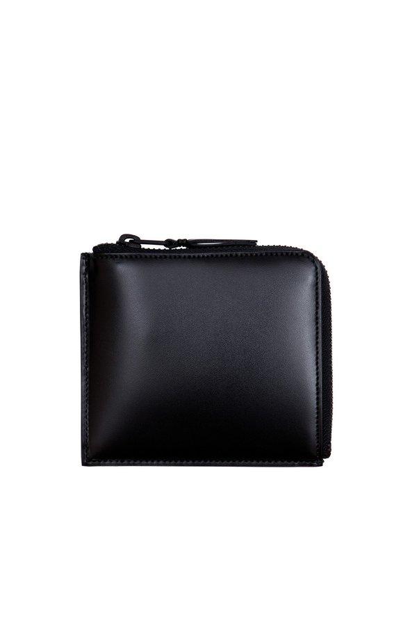Leather Half Zip Wallet - Very Black - SA3100VB