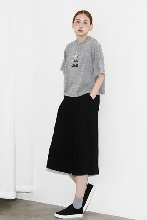 AMONG by ROCKET X LUNCH Talk Softly Top- Grey