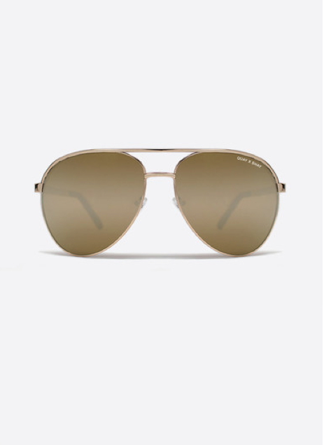 QUAY AUSTRALIA x Shay Vivienne Sunglasses - Gold Mirrored