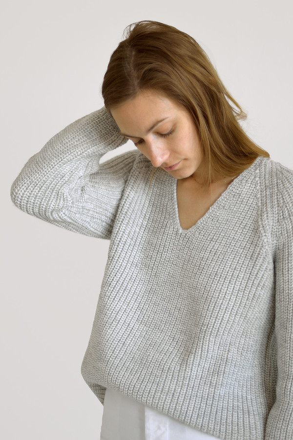 Ali Golden Chunky V-Neck Sweater
