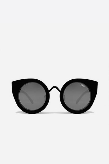 QUAY Tainted Love Cat-Eye Sunglasses- Black