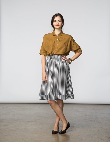SBJ Austin Alex Skirt - Black & White Gingham
