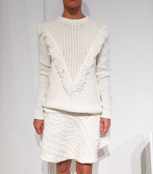 Rhié Cable knit flared skirt