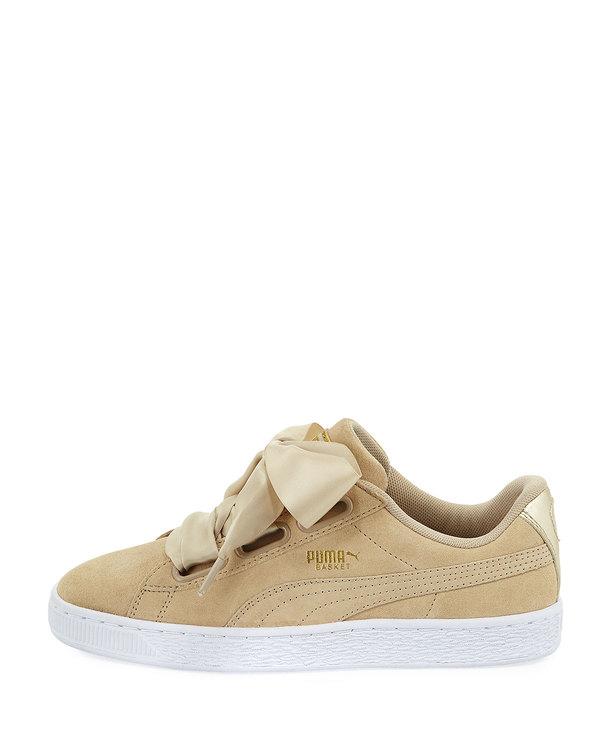 Puma Suede Heart Satin Sneakers Safari