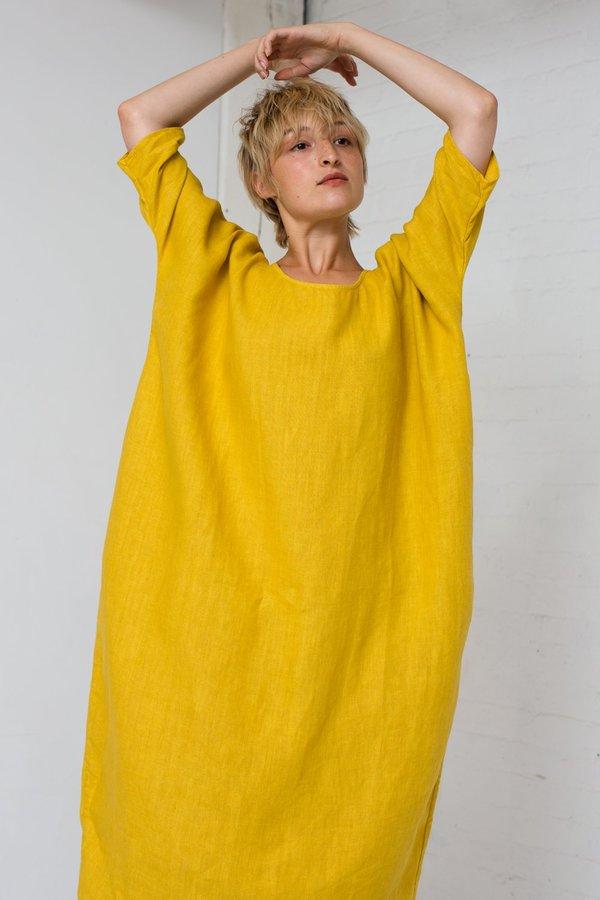 c6638db8e5 Rachel Craven Long Cocoon Dress in Tumeric