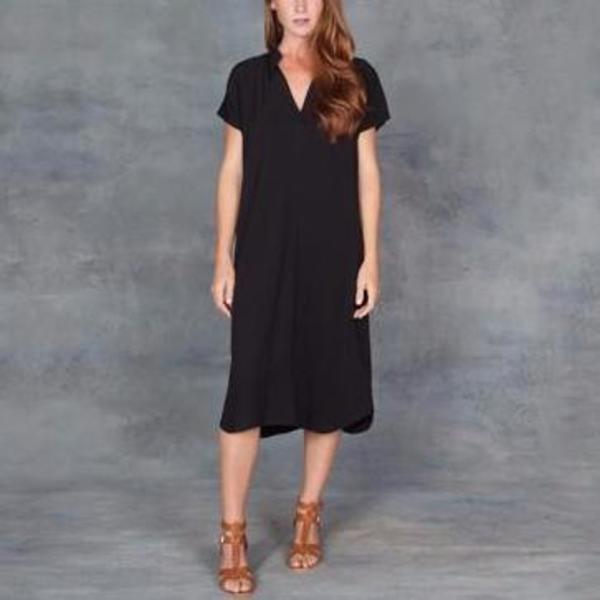 Tysa Travel Dress In Black Garmentory