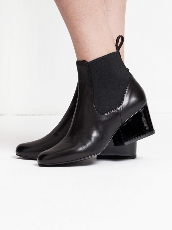 Robert Clergerie Patent Leather Ankle Boots