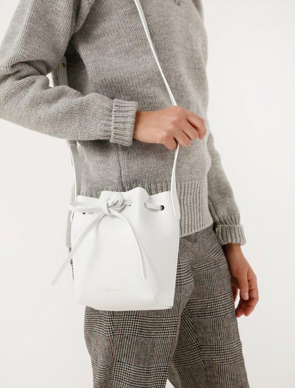 Mansur Gavriel Mini Mini Bucket Bag - White Blue
