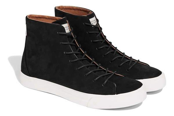 fa62e5c4792 Saturdays NYC Mike High Sneaker - Black on Garmentory