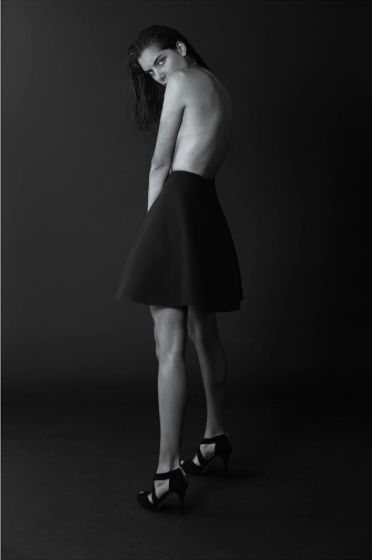 Devlyn van Loon Perforated A-Line Skirt