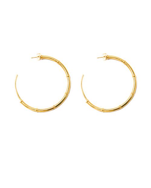 A Peace Treaty Turka Hoop Earrings in Gold Plated Brass