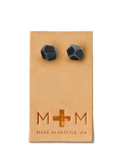 Maple & Mauve Ceramic Facets Studs