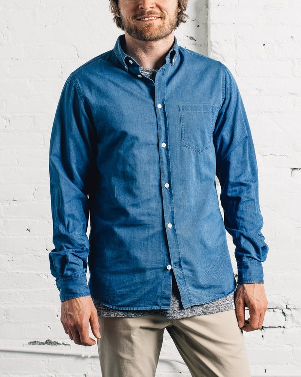 8fcf499743 Norse Projects Anton Denim Shirt - Sunwashed