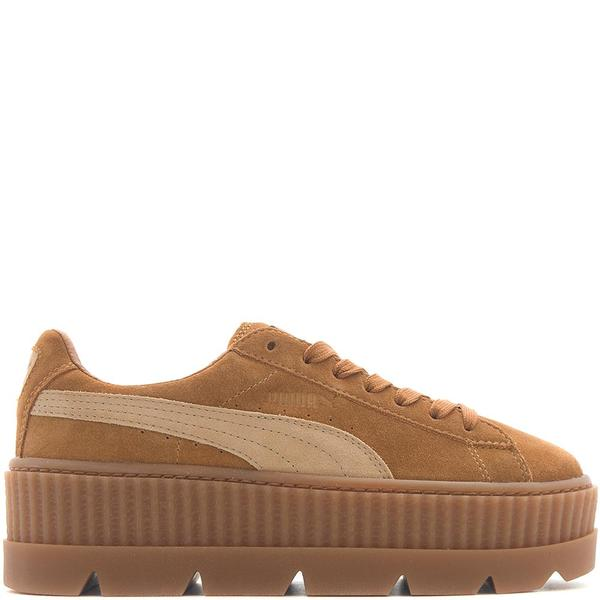 Details about PUMA Fenty X Rihanna Cleated Creeper Ladies Suede Black Green Yellow Trainers