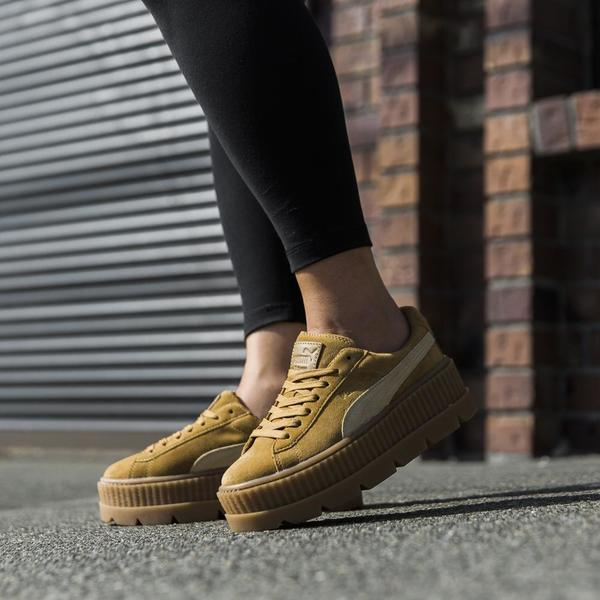 competitive price 04ab0 19014 Puma Fenty Cleated Suede Creeper - Golden Brown