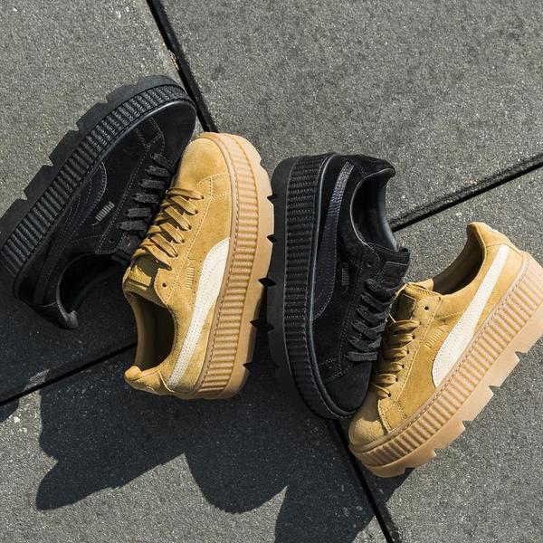 competitive price 5cc9c 9a996 Puma Fenty Cleated Suede Creeper - Golden Brown