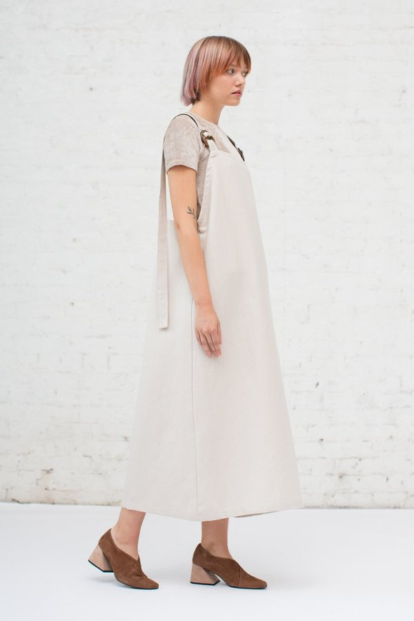 a4593361ee Baserange Duffy Overall Dress in Beige. sold out. Baserange