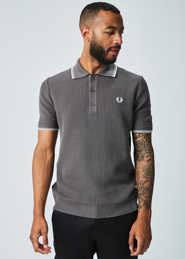 c946718b Fred Perry Reissue Textured Knit Polo | Garmentory