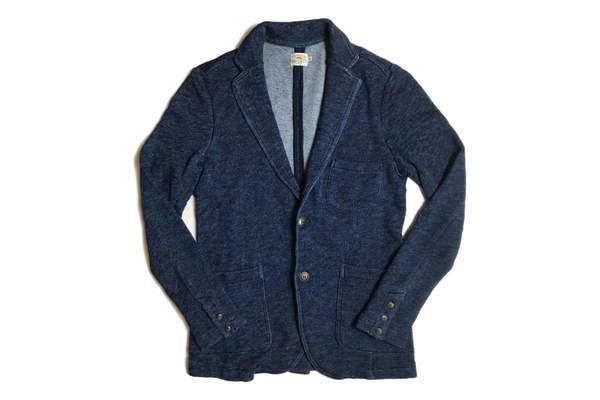 Faherty Brand Marled Indigo Knit Blazer